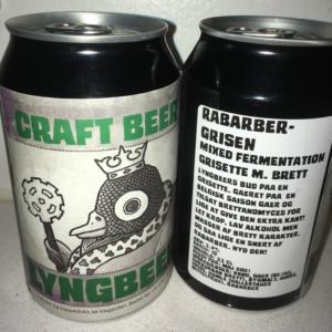 Lyngbeers Rabarber-grisen øl